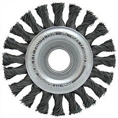 Щетка дисковая Lessmann 115х22,2 мм стальная проволока