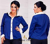 Женская блуза шелковая на пуговицах
