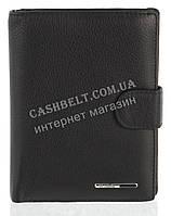 Прочное стильное кожаное мужское портмоне бумажник с документницей из мягкой кожи H.VERDE art. 2130 черный, фото 1