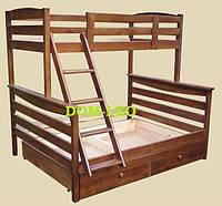 Двухъярусная кровать Арина трёхместная