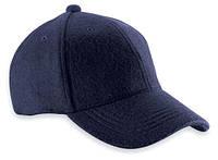Бейсболка шерстяная темно-синяя