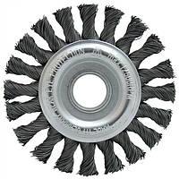 Щетка дисковая Lessmann 125х22,2 мм стальная проволока