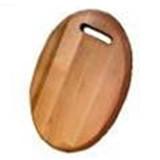 Доска 350*240*20мм деревянная овальна с канавкой