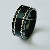 Мужское черное кольцо из стали