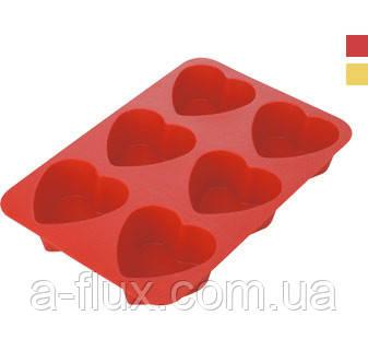 Форма силиконовая на 6 сердец TESCOMA