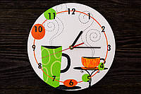 Настенные часы ручной работы «Аромат кофе»