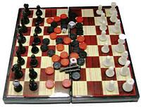 Нарды шахматы на магнитах, дорожный набор, 240х240х60