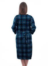 Женский халат велюровый больших размеров Шотландская клетка, фото 3