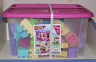 Детский конструктор Wader на 132 элемента в коробке (для девочек)