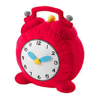"""IKEA """"ХЕММАХОС"""" Мягкая игрушка, часы, красный"""