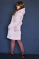 Пуховик женский - пальто с шарфом Daser
