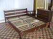 """Белая двуспальная кровать """"Грета Вульф"""". Массив - сосна, ольха, береза, дуб., фото 4"""