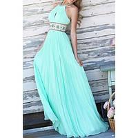DT-13730 Выпускное Макси Платье Бирюзовое Зеленое Голубое