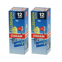 "Автомобильные галогенные лампы ""OSRAM"" (H3)(ALLSEASON SUPER)(+30%)(12V)(55W), фото 1"