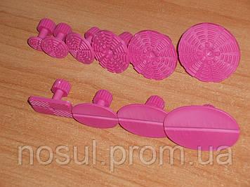 PDR GT-3 грибки клеевые набор сменных насадок для инструмента 10 штук (розовые). Инструмент для удаления вмяти