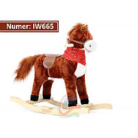 Лошадка качалка со звуком IW665