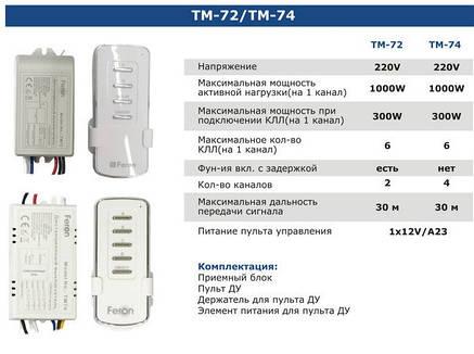Дистанционный выключатель света TM74 PREMIUM класс, фото 2