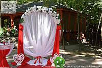 Оформление свадебной арки, столика для росписи в красном цвете
