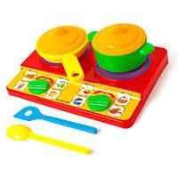 Игровой набор посуды с плитой 048/15 Бамсик