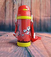Термос детский с трубочкой красный 0,32 л.
