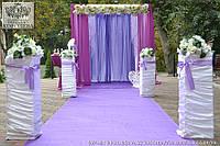 Оформление выездной церемонии в цвете фиолетовый и фуксия