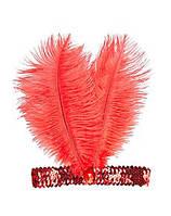"""Повязка (ободок) карнавальная """"Два пера"""", разные цвета. Размер универсальный. Розница и опт в Украине."""