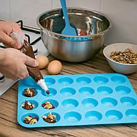 Силиконовая форма для выпечки мини-кексов/капкейков (24 ячейки)