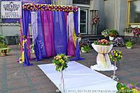 Красивейшая свадебная арка, украшенная живыми цветами