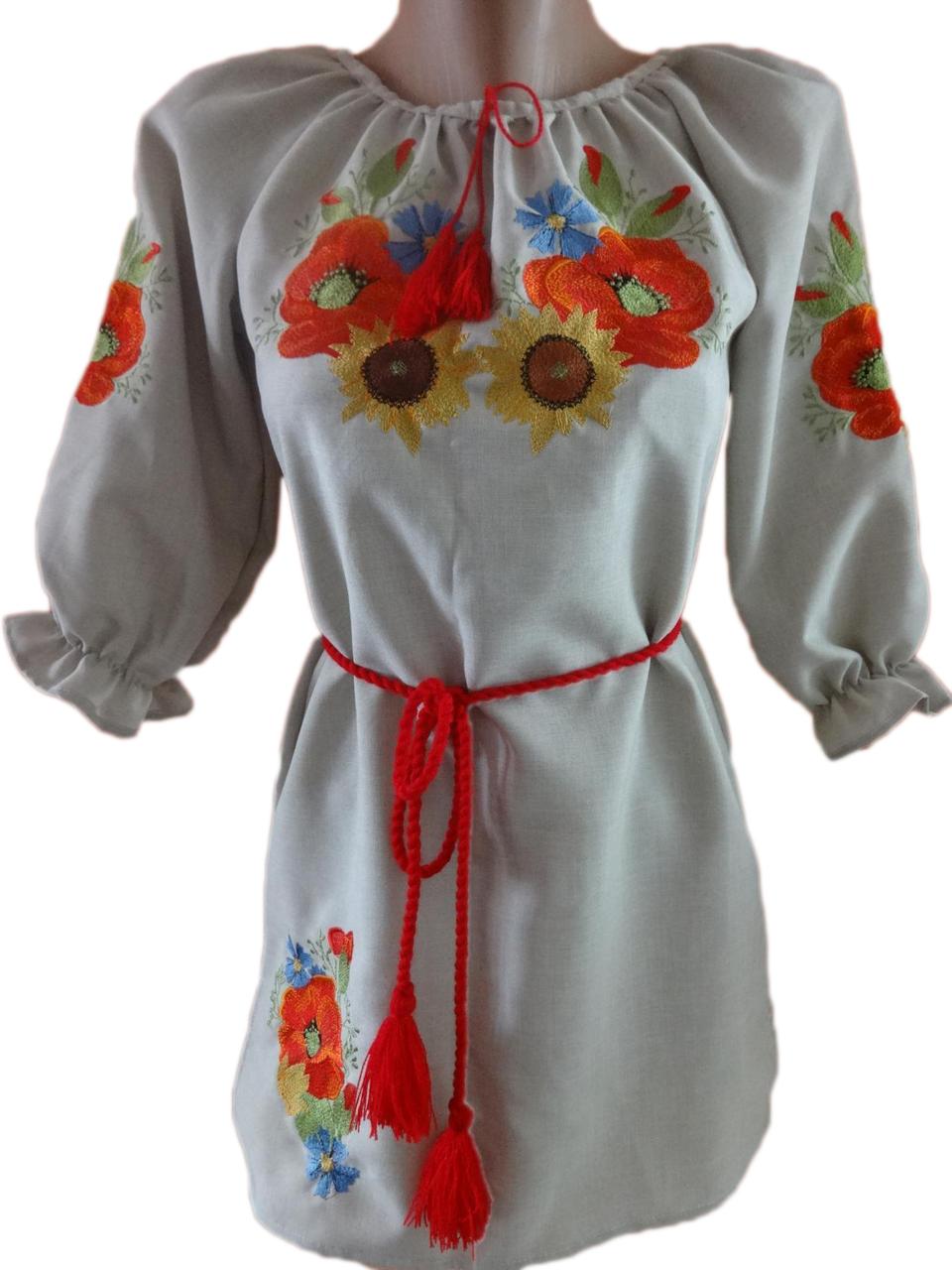 """Женская вышитая рубашка """"Украинский букет"""" BN-0002"""