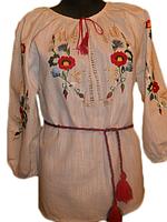 """Жіноча вишита блузка """"Український розмай"""" (Женская вышитая блузка с """"Украинское разнообразие"""") BN-0027"""
