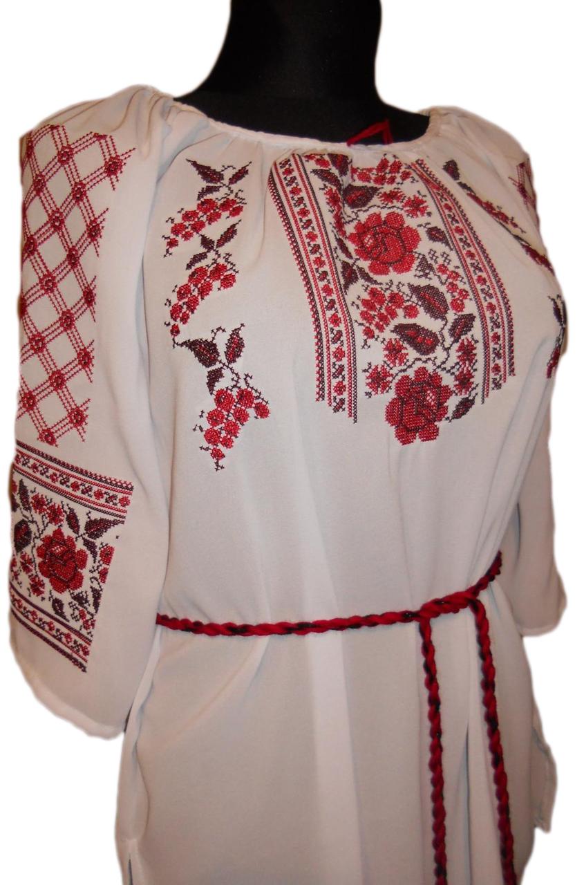 """Жіноча вишита сорочка (блузка) """"Український колорит"""" (Женская вышитая рубашка (блузка) """"Украинский колорит"""") BN-0009"""