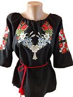 "Жіноча вишита блузка ""Квітковий розмай"" (Женская вышитая блузка ""Цветочное разнообразие"") BN-0022"
