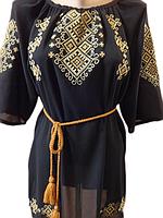 """Жіноча вишита сорочка (блузка) """"Вишуканий орнамент"""" (Женская вышитая рубашка (блузка) с """"Изысканный орнамент"""") BN-0026"""