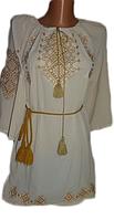 "Жіноча вишита блузка ""Жовтий орнамент"" (Женская вышитая блузка с ""Желтый орнамент"") BN-0030"