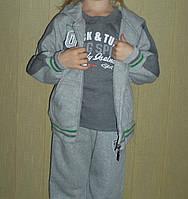Детский трикотажный костюм тройка на байке №130