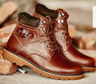 Мужские кожаные ботинки 38-44. Модель 976