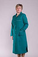 Зеленый женский медицинский халат из габардина