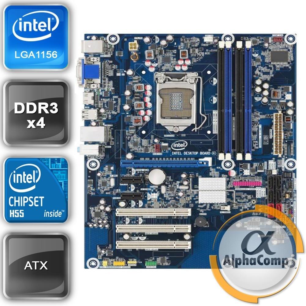 Материнская плата Intel DH55HC (s1156/H55/4xDDR3) БУ