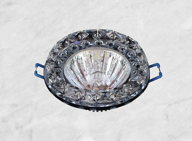Точечный стеклянный врезной светильник (16-228 чёрный), фото 2