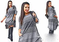 """Стильное женское платье в больших размерах """"Вискоза"""" (87-466)"""
