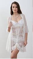 Халат женский прозрачный Mirabelle 940 (женская одежда для сна, дома и отдыха, домашняя одежда)