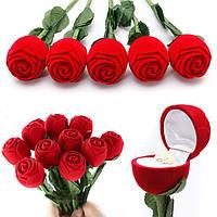 """Подарочная коробочка """"Роза на ножке"""" для кольца/подвески/и др."""