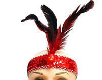 """Повязка (ободок) карнавальная """"Три пера"""", разные цвета. Размер универсальный. Розница и опт в Украине., фото 1"""