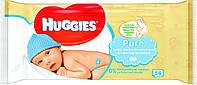 Детские влажные салфетки Huggies Pure 56 шт., Великобритания