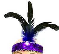 """Повязка (ободок) карнавальная """"Три пера"""", разные цвета. Размер универсальный. Розница и опт в Украине."""