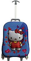 2-х колесный рюкзак-чемодан школьный для принцессы Bag-Suitcase Hello Kitty
