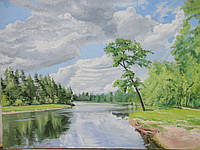 """Картина """"Дерево у реки"""""""