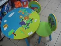 Набор детской мебели «Сафари» Е 03-1145 круглый столик и два стульчика. КИЕВ, фото 1