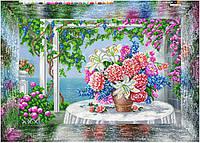 """Схема для вышивки бисером на подрамнике (холст) """"Цветочный натюрморт"""""""