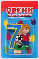 "Свічка на торт ""ФУТБОЛІСТ""-""7"""